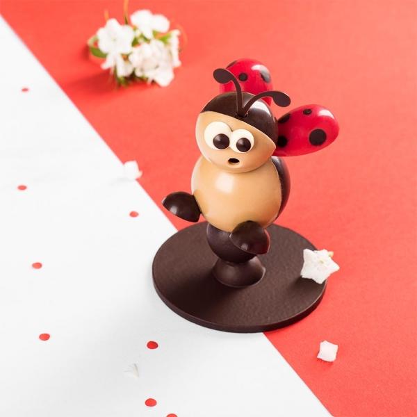 coccinelle sujet chocolat été artisans chocolatiers rennais laurent le daniel maison le daniel patisserie le daniel mof meilleur ouvrier de france patisserie à rennes ille et vilaine bretagne