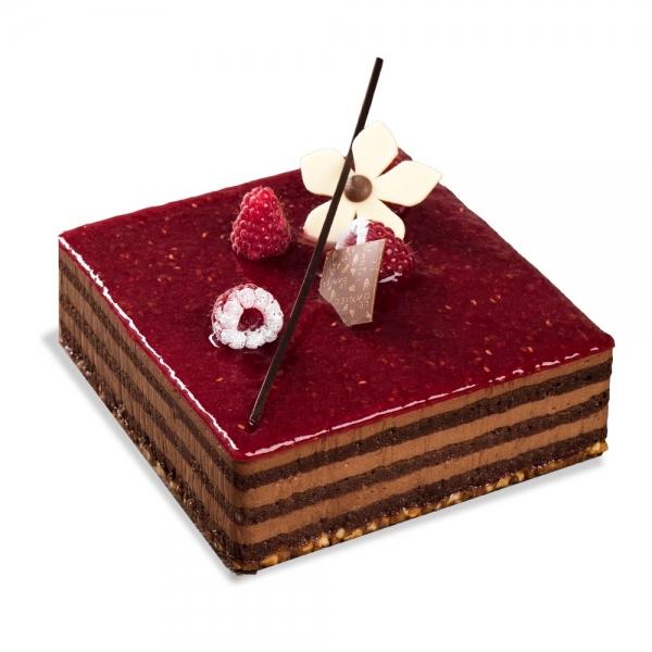 ambrosie entremet dessert pâtisserie chocolat noir et framboise meilleure ouvrier de france rennes bretagne mof laurent le daniel maison le daniel pâtisserie le daniel