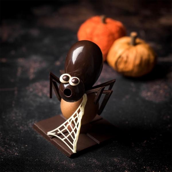 araignée chocolat chocolate création halloween sujet chocolat halloween fete des enfants gourmandise halloween 2021 laurent le daniel mof meilleur ouvrier de France pâtisserie rennes bretagne