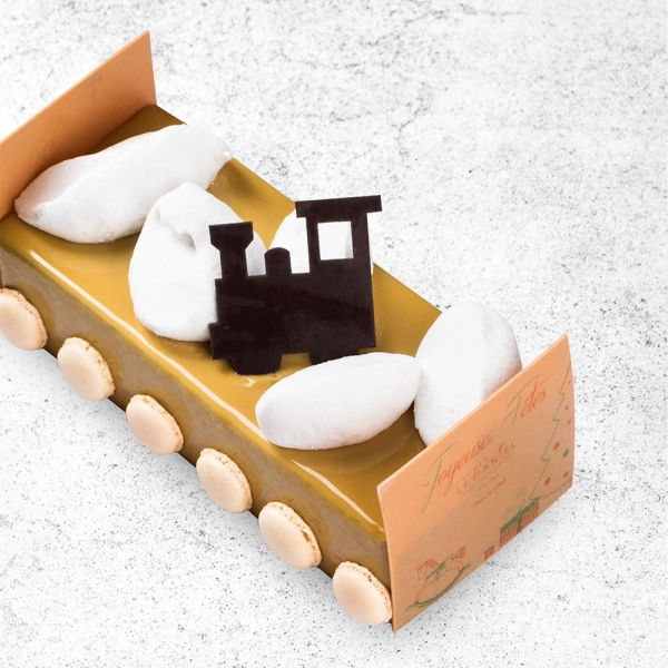 buche nuage buche au chocolat de qualité à rennes mof laurent le daniel meilleur ouvrier de france à Rennes patisserie haut de gamme desserts de noel buches de noel dessert exceptionnel pour fêtes de fin d'année idées de dessert pour le réveillon de noel
