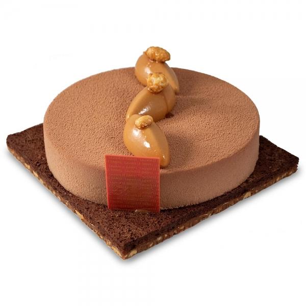 macaraibo dessert entremets gâteau de l'automne fruits de la passion caramel fruits secs laurent le daniel mof meilleur ouvrier de franc e à rennes patisserie ille et vilaine bretagne