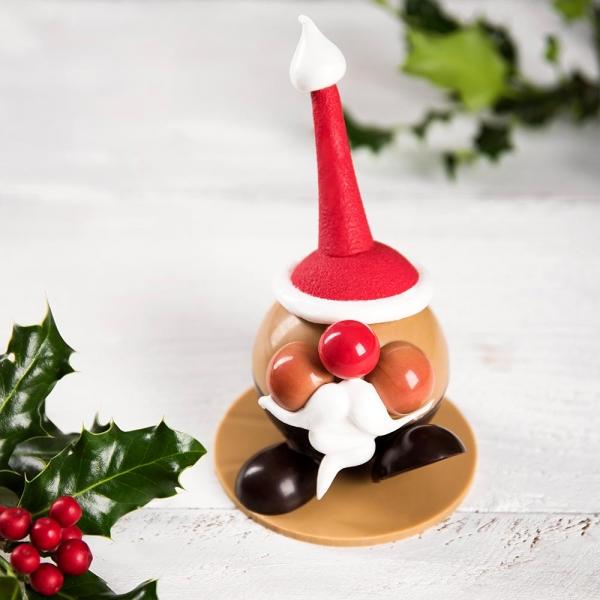 père noel en chocolat sujet en chocolat idée cadeau noel pour les enfants noel 2020 artisans chocolatiers rennais laurent le daniel mof meilleur ouvrier de france patisserie à rennes ille et vilaine bretagne relais desserts