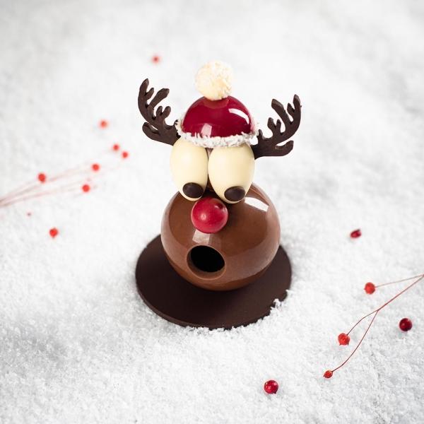 sujet renne création chocolat artisans chocolatiers idée cadeaux chocolat création noel 2018 sujet renne mof rennes bretagne laurent le daniel noel idée cadeaunoel 2018 enfants laurent le daniel mof rennes bretagne