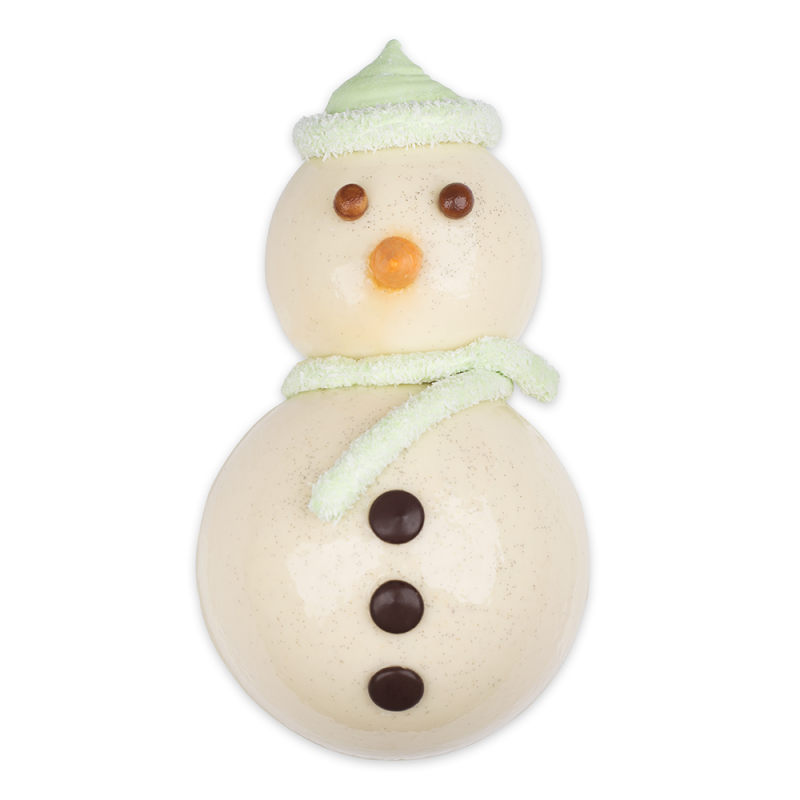 Glace bonhomme de neige vanille fraise rennes bretagne pâtisserie le daniel laurent le daniel mof