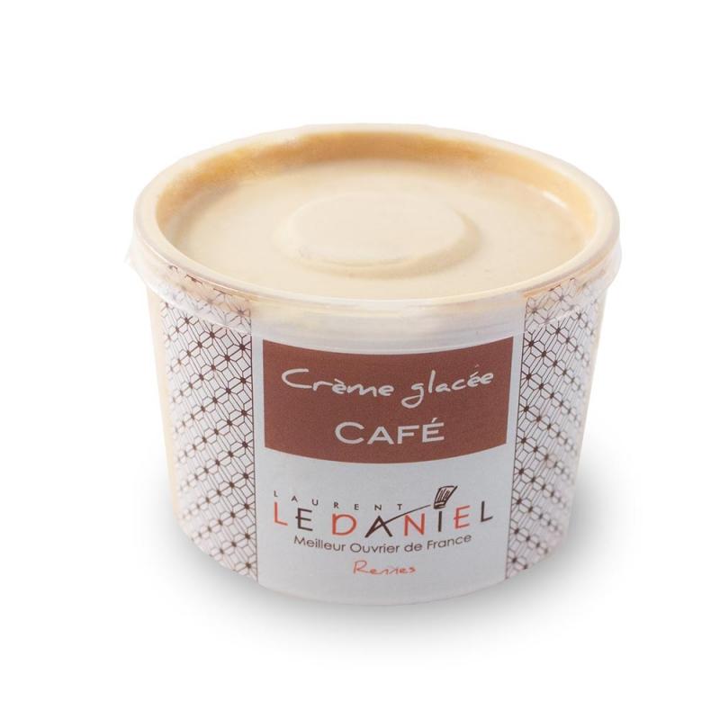 glace crème glacée fait maison glace artisanale laurent le daniel maison le daniel meilleur ouvrier de france pâtisserie rennes ille et vilaine bretagne  meilleures glaces à rennes crème glacée au café glace saveur café