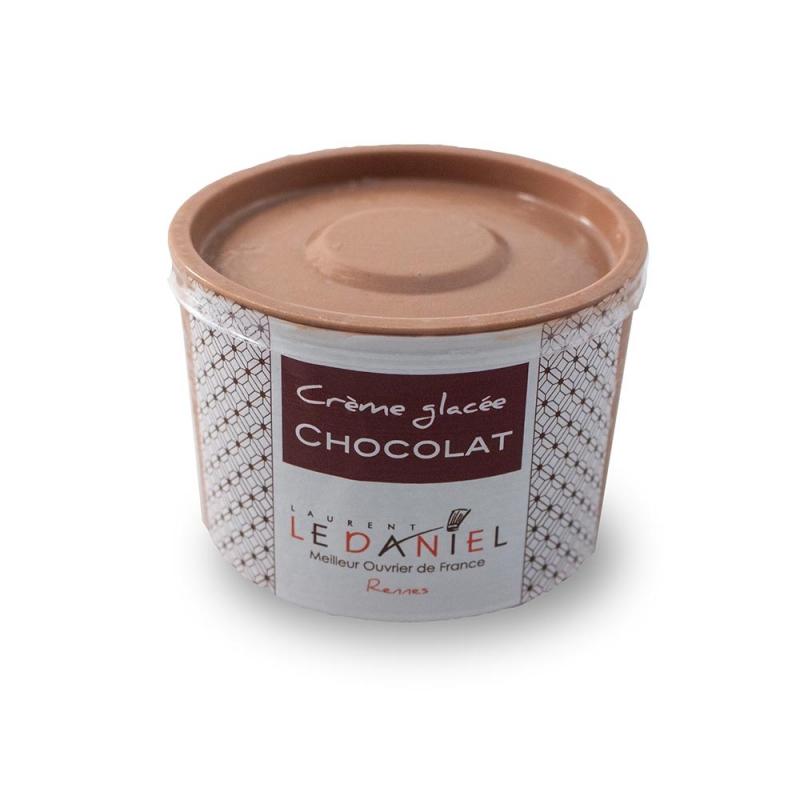 glace crème glacée sorbet fait maison glace artisanale laurent le daniel maison le daniel meilleur ouvrier de france pâtisserie rennes ille et vilaine bretagne  meilleures glaces à rennes crème glacée chocolat saveur chocolat