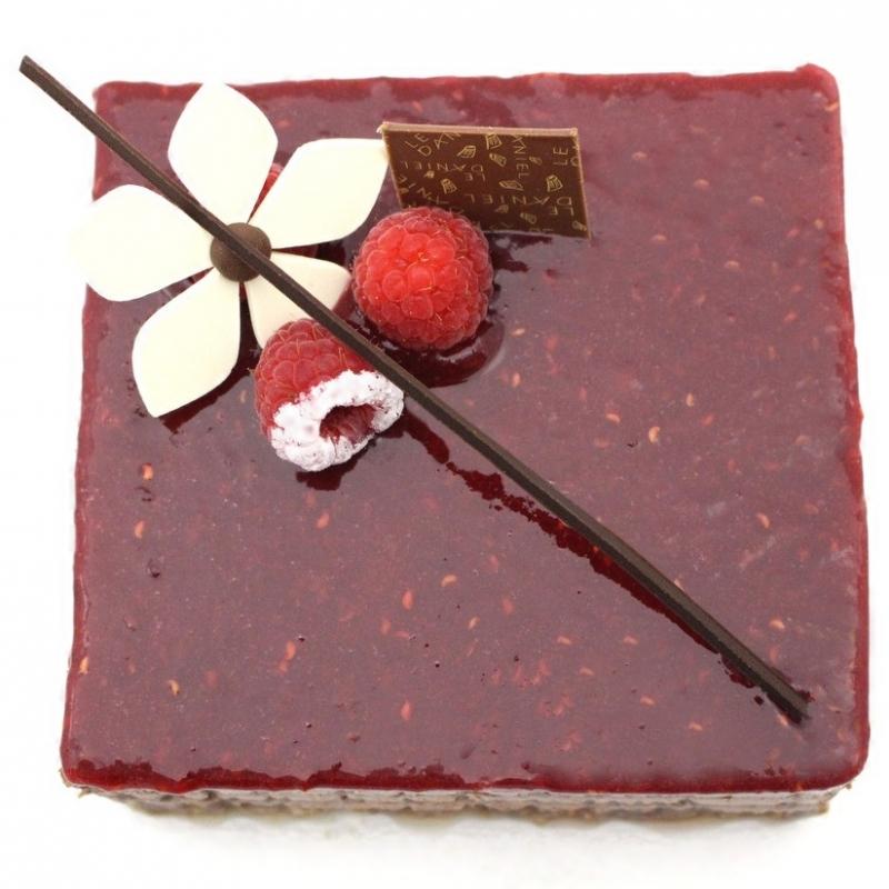 gateau chocolat framboise rennes le danie