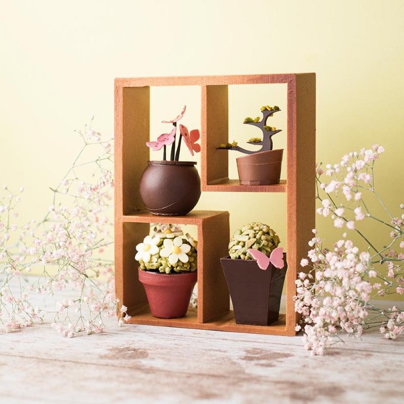 composition florale sujet chocolat été artisans chocolatiers rennais laurent le daniel maison le daniel patisserie le daniel mof meilleur ouvrier de france patisserie à rennes ille et vilaine bretagne