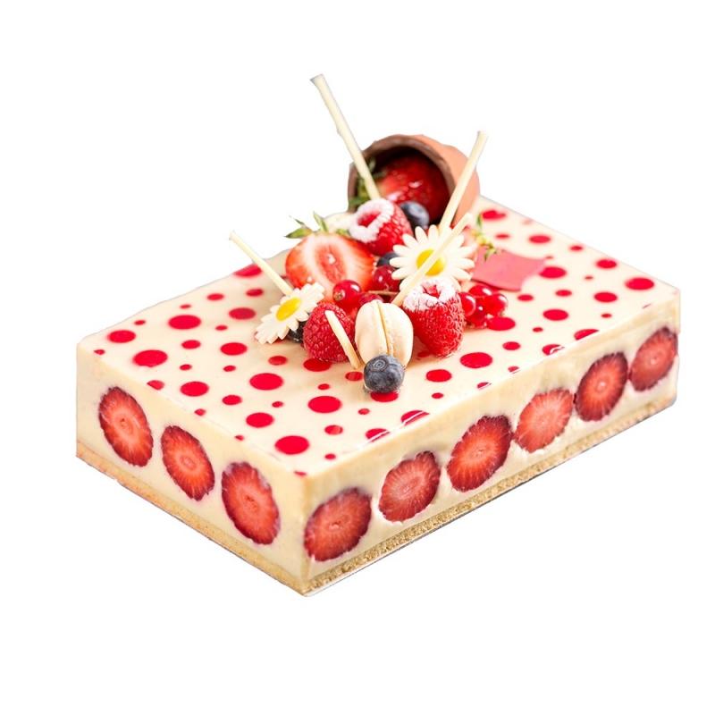 dessert entremets gâteaux fraisier recette fraise vanille originale artisan patissier patisserie rennes le daniel laurent mof meilleur ouvrier de france pâtisserie rennes ille et vilaine bretagne