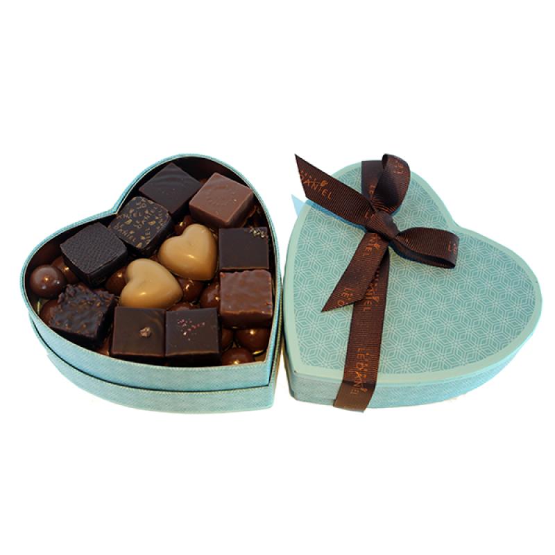 boite coeur garnie chocolat fête des pères
