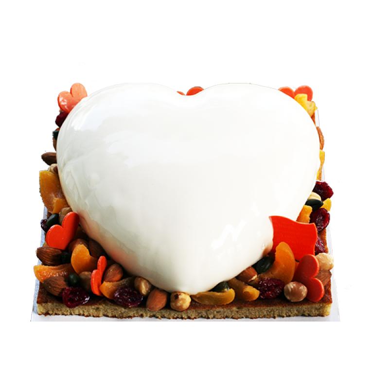 Gâteau fête des mères fruits abricot fruits secs crème léger
